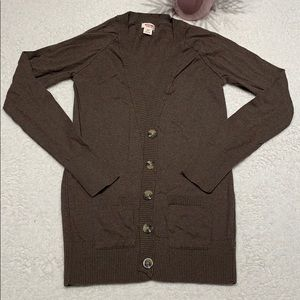 🔥🔥🔥 3/$20 Mossimo cardigan size S brown button